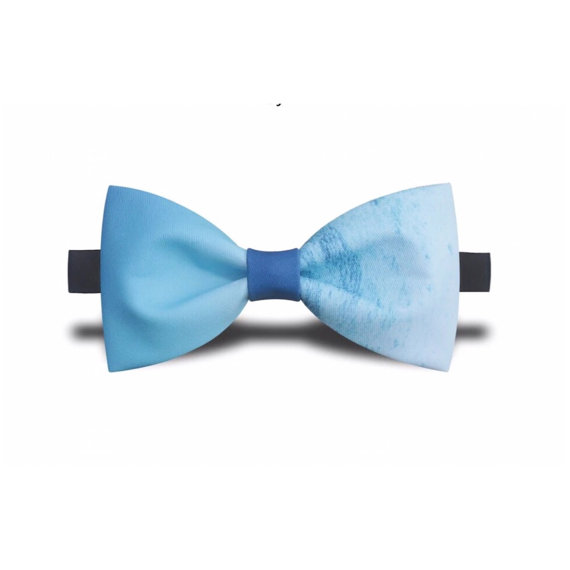 Blue Ombre Bow Tie - Unique Groom + Groomsman Bow Ties