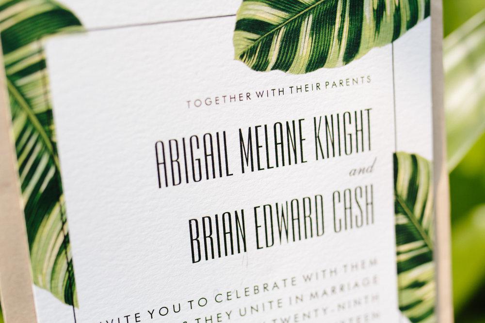 Tropical Wedding Invitations - A Tropical Botanical Gardens Budget Wedding