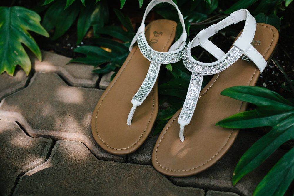 Bridal Sandals - A Botanical Gardens Budget Wedding - From Britt's Eye View Photography