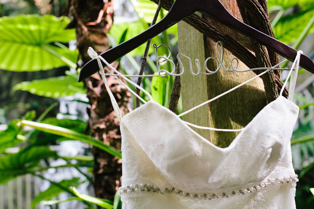 Custom Bridal Hanger - A Botanical Gardens Budget Wedding - From Britt's Eye View Photography