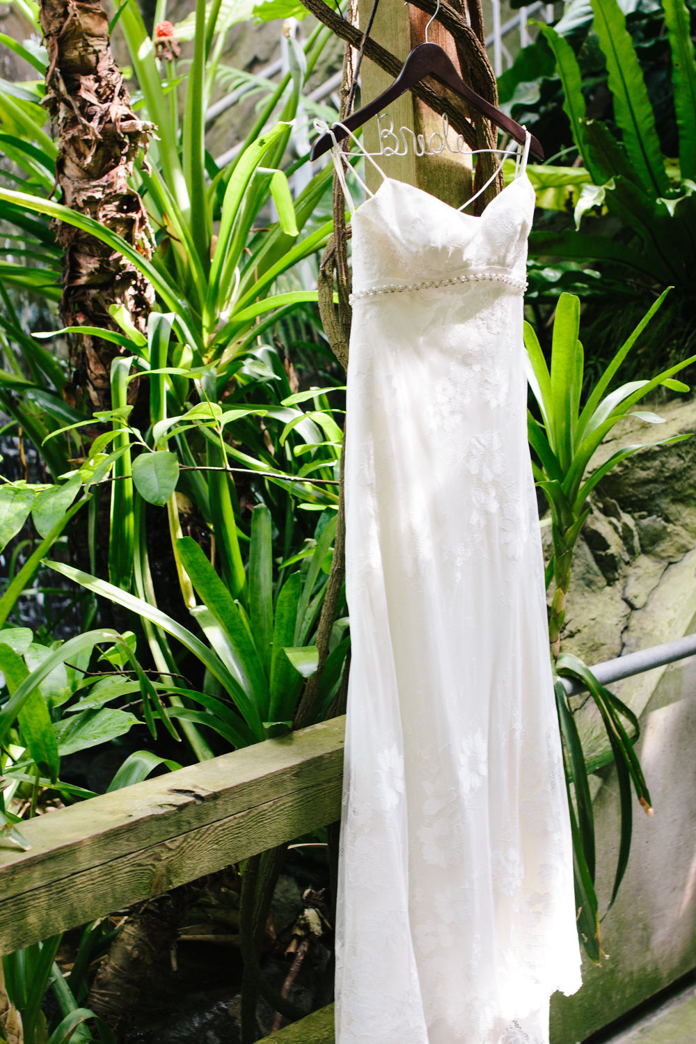Low Back Lace Wedding Gown - A Botanical Gardens Budget Wedding - From Britt's Eye View Photography