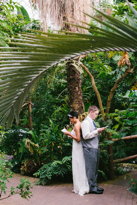 Gorgeous First Look Photos - A Botanical Gardens Budget Wedding - From Britt's Eye View Photography