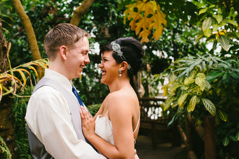 Gorgeous First Look Photos - A Botanical Gardens Budget Wedding - From Britt's Eye View Photography