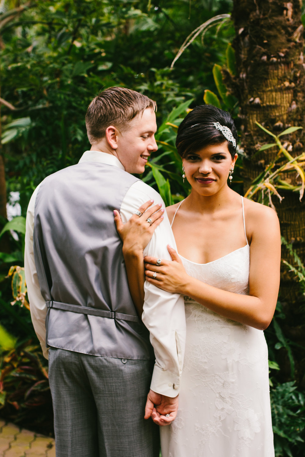 Gorgeous Bride and Groom Portraits - A Botanical Gardens Budget Wedding - From Britt's Eye View Photography