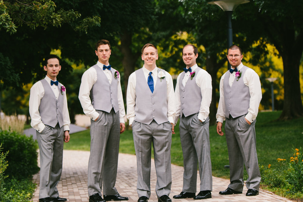 Grey, Blue and white Groomsman Attire - A Botanical Gardens Budget Wedding - From Britt's Eye View Photography