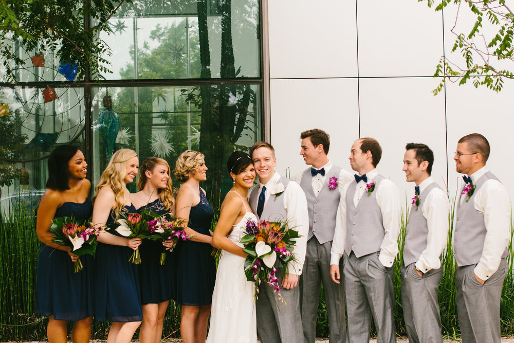 Navy + Grey Wedding Colors - A Botanical Gardens Budget Wedding - From Britt's Eye View Photography