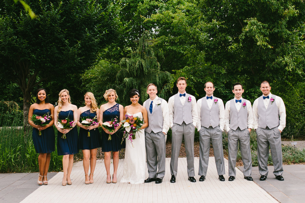 Navy + Grey Wedding Colors - A Botanical Gardens Budget Wedding - From Britt's Eye View PhotographyNavy + Grey Wedding Colors - A Botanical Gardens Budget Wedding - From Britt's Eye View Photography