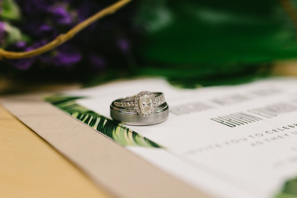 Oval Shaped Halo Engagement Ring - A Botanical Gardens Budget Wedding - From Britt's Eye View Photography