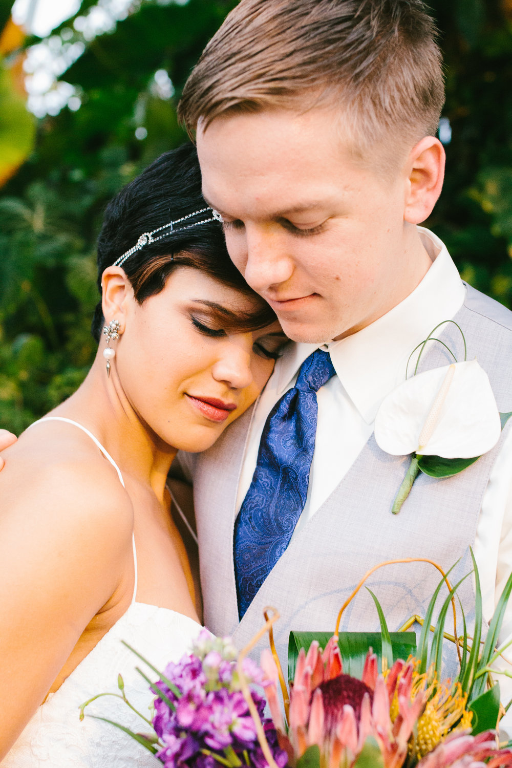 Gorgeous Bride + Groom Photos - A Botanical Gardens Budget Wedding - From Britt's Eye View Photography