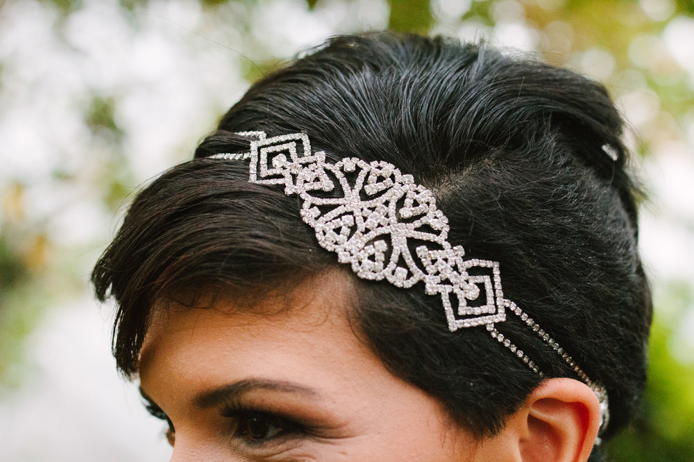 Bridal Headpiece - A Botanical Gardens Budget Wedding - From Britt's Eye View Photography