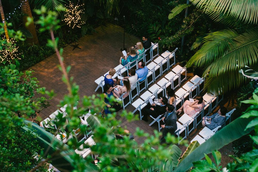 Tropical Wedding Sign - A Botanical Gardens Budget Wedding - From Britt's Eye View Photography