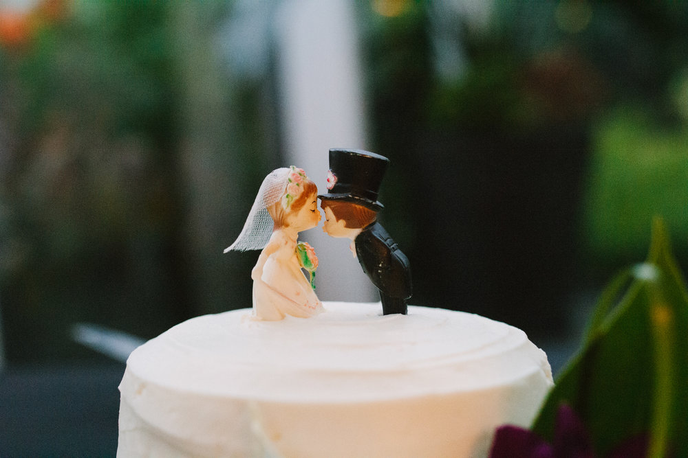 Figurine Wedding Cake Topper - A Botanical Gardens Budget Wedding - From Britt's Eye View Photography