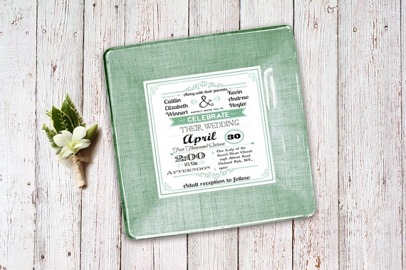 Unique Green Spring Wedding Invitations
