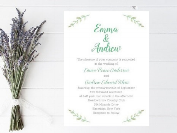 Simplistic Spring Wedding Invitations