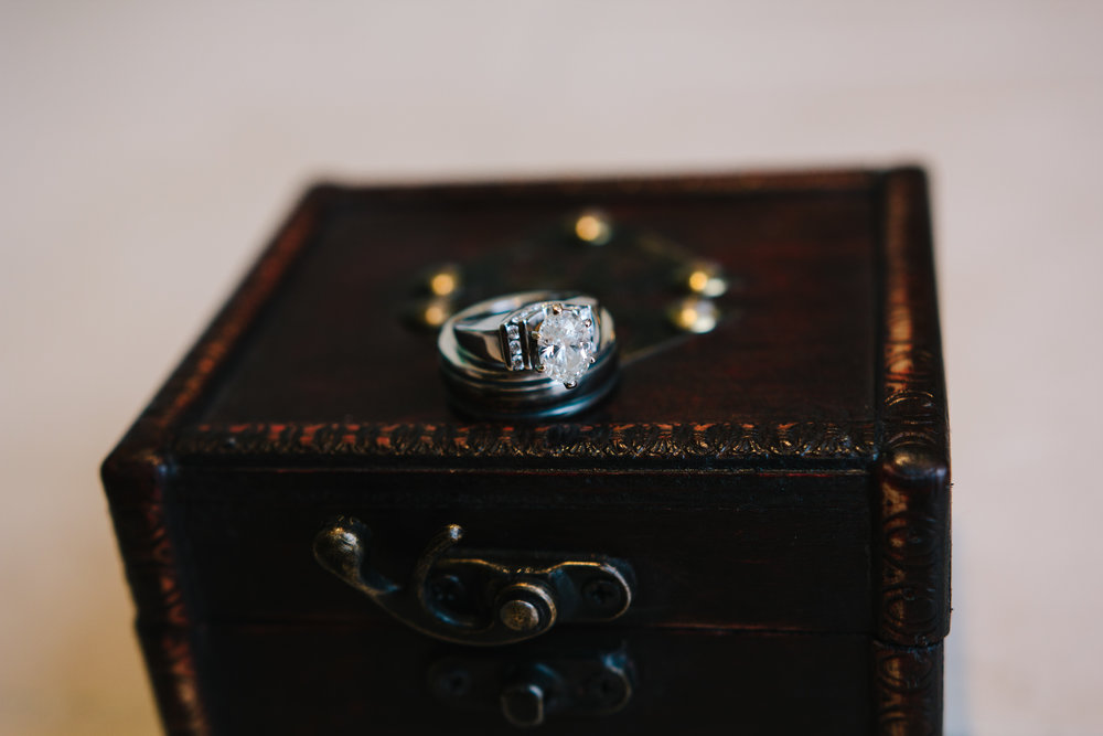 Unique engagement ring box - A Simple Purple + White Wedding by From Britt's Eye View