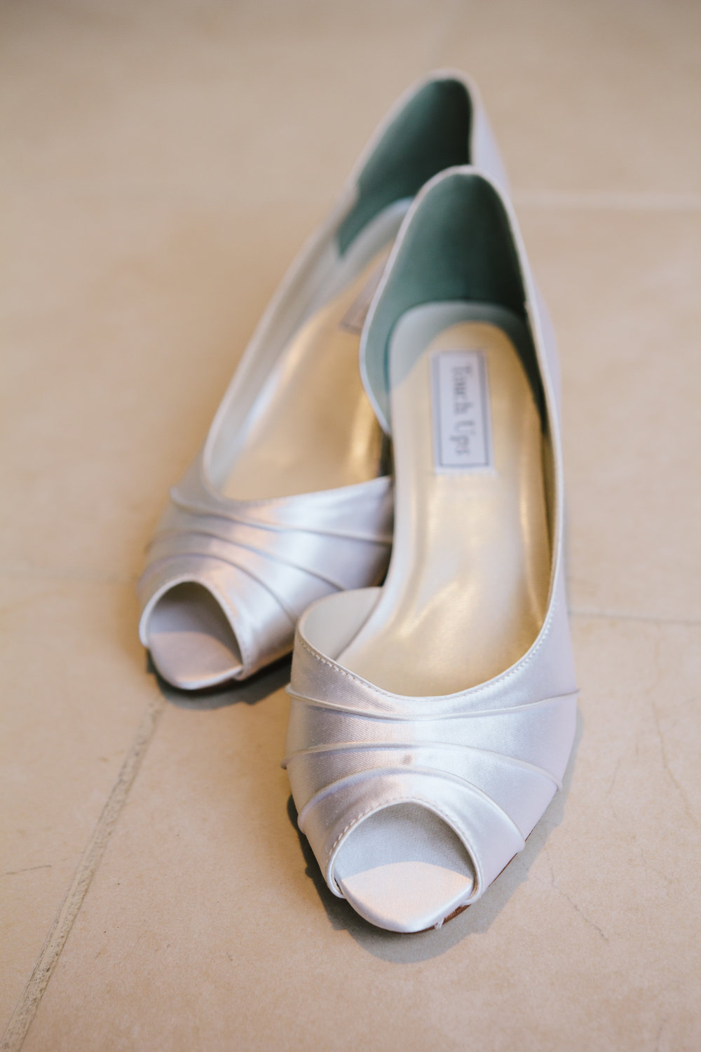 White Low Heel Wedding Shoes - A Simple Purple + White Wedding by From Britt's Eye View
