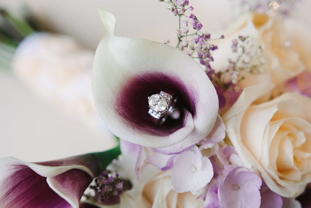 Gorgeous Engagement Ring Shots - Unique Oval Engagement Ring - A Simple Purple + White Wedding by From Britt's Eye View