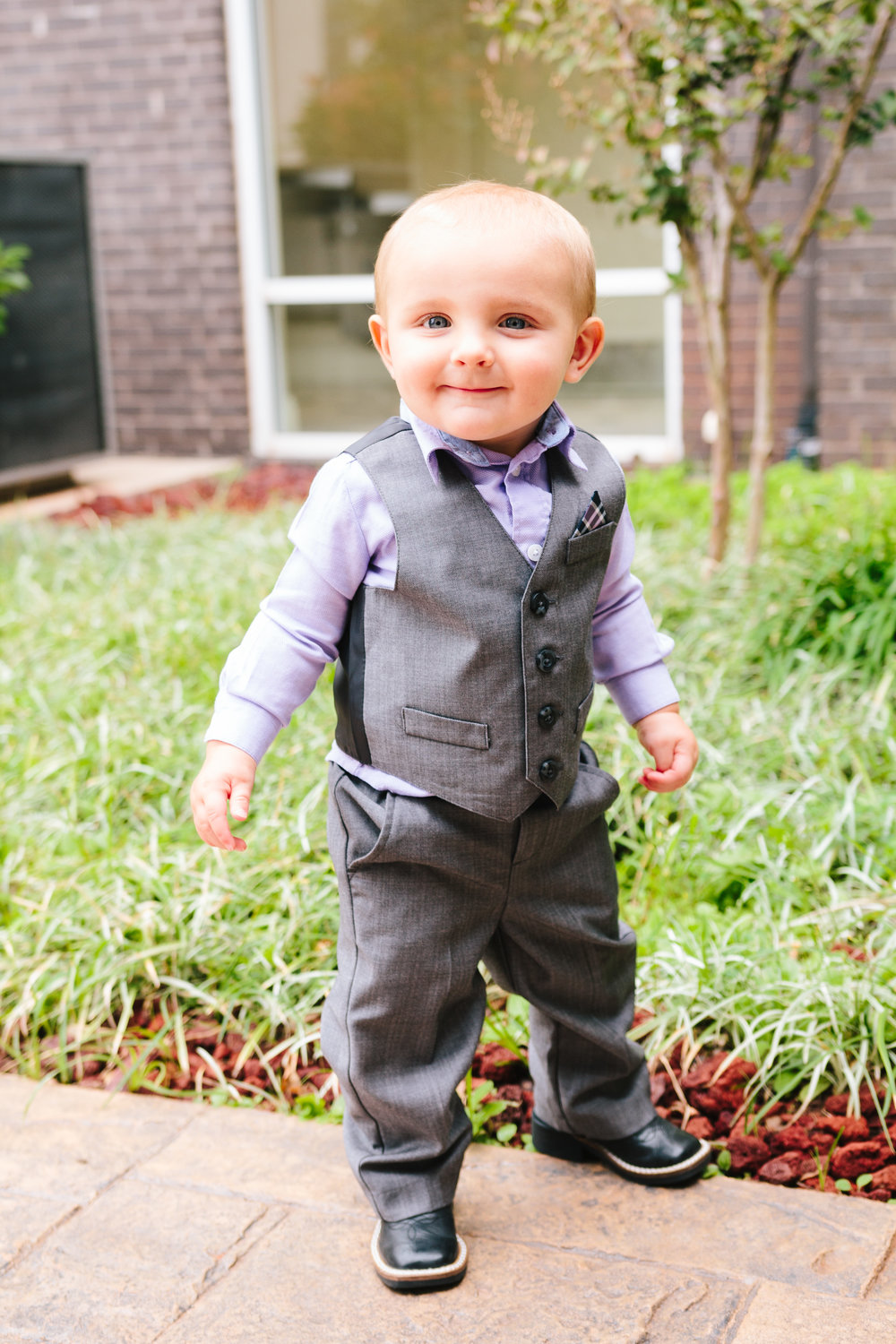 Ring Bearer Attire - A Simple Purple + White Wedding by From Britt's Eye View