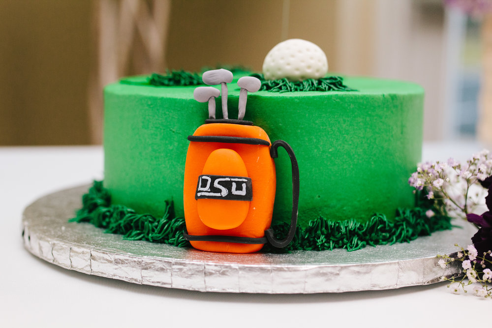 Golf Themed Groom's Cake - A Simple Purple + White Wedding by From Britt's Eye View