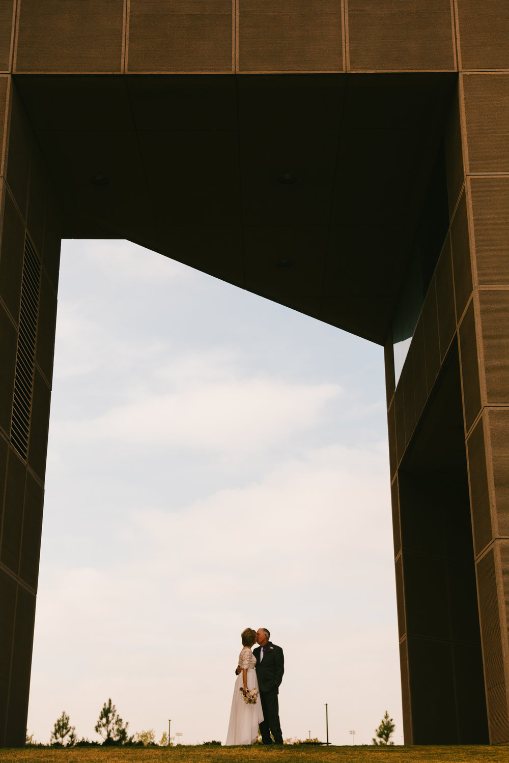 Gorgeous Bride and Groom Portraits - A Simple Purple + White Wedding by From Britt's Eye View