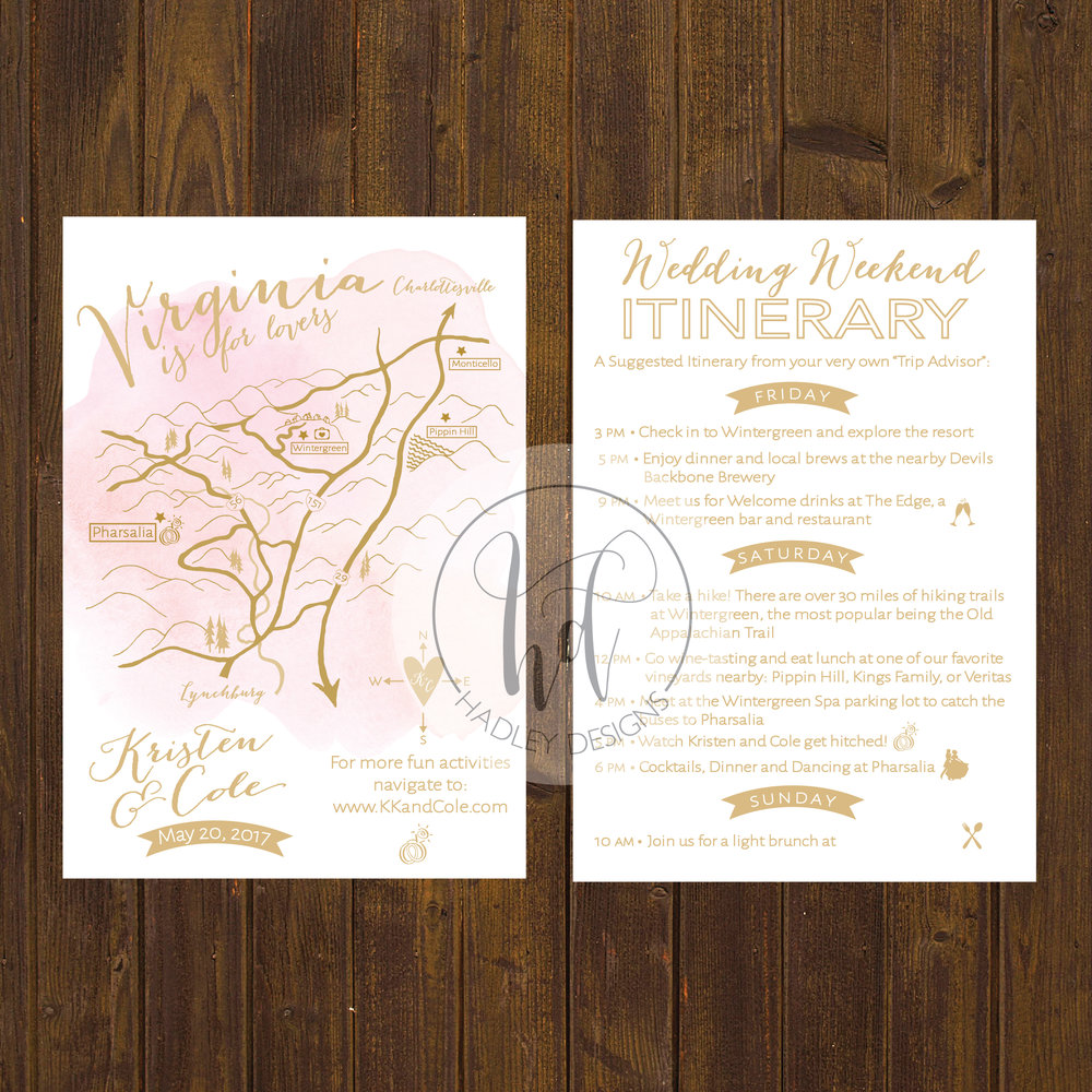 Wedding Invitation Custom Maps