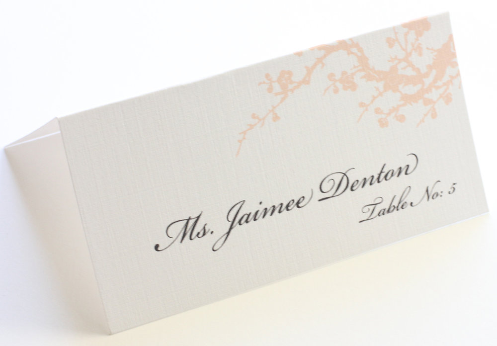 Cherry Blossom Wedding Place Cards