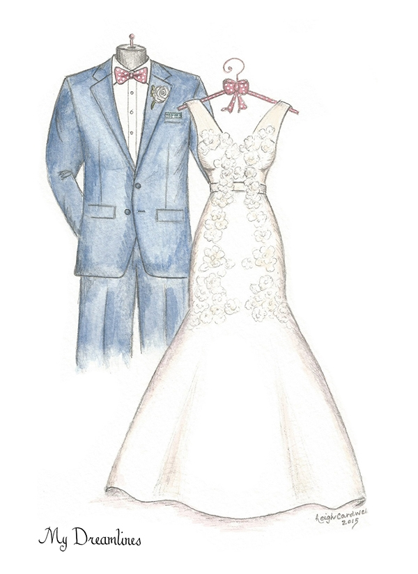 Custom Wedding Dress Sketches