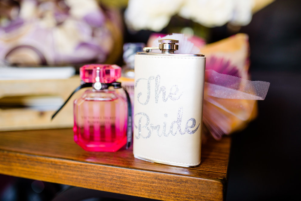 Bride Flask - A San Mortiz Lodge Fairytale Mountain Wedding - Paul Douda Photography