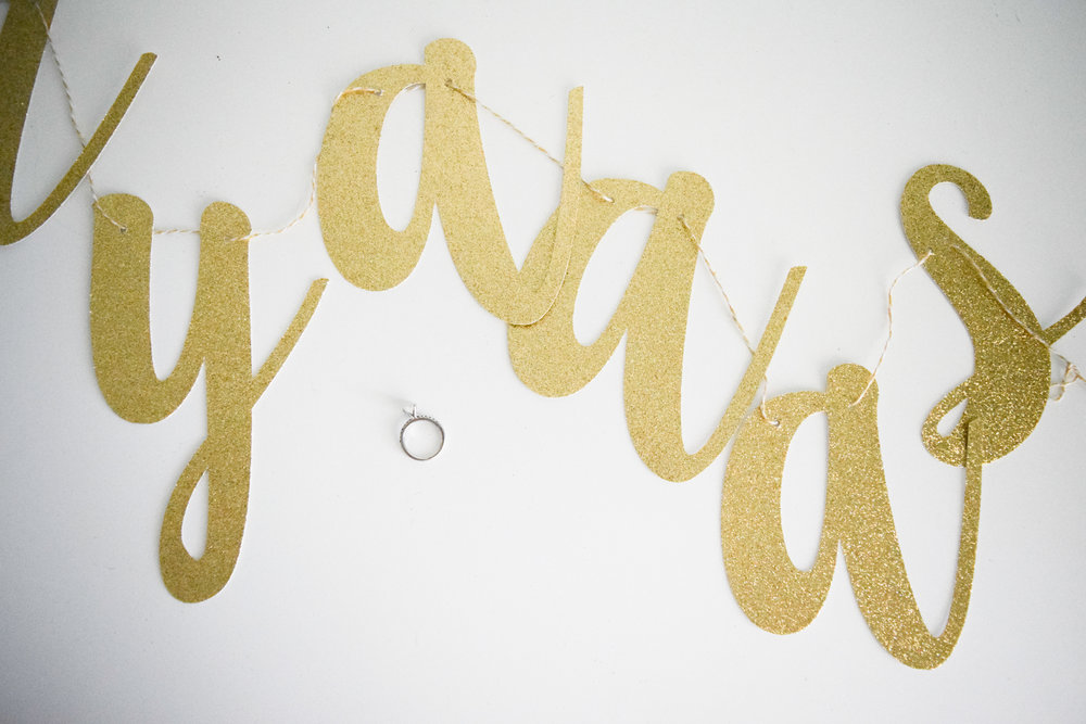 "The Bridal Boutique | Gold ""She Said Yaaas"" Banner by Stag & Hen"