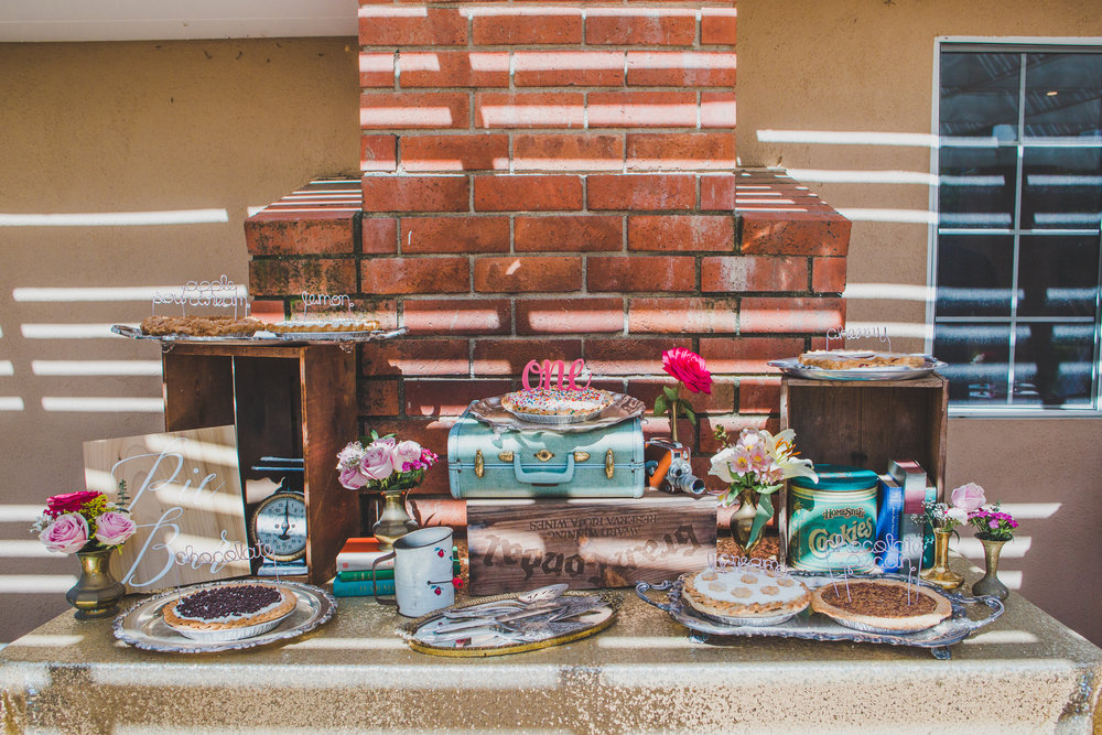 Vintage Bridal Shower - Pie Bar + Mimosa Bar