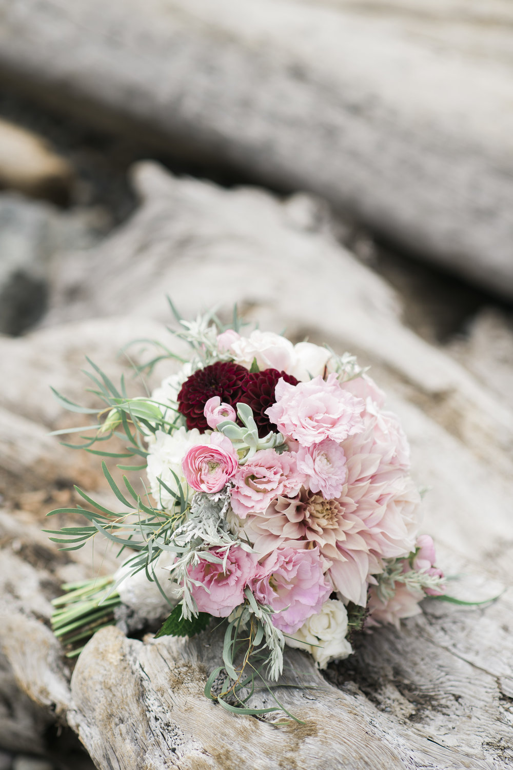 Blush and White Bridal Bouquet - A Romantic Sodo Park Seattle Wedding - Kimberly Kay Photography