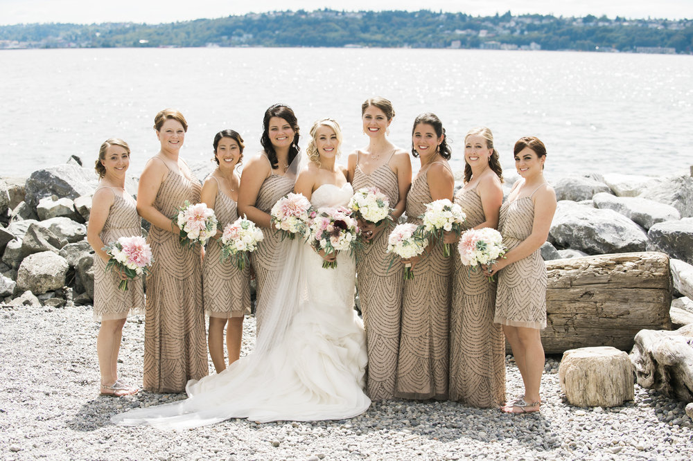 Mauve Bridesmaid Dresses - A Romantic Sodo Park Seattle Wedding - Kimberly Kay Photography