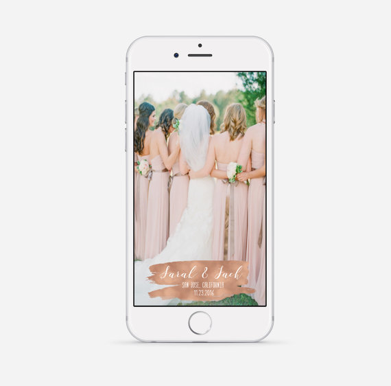 Personalized Wedding Snapchat Geofilters