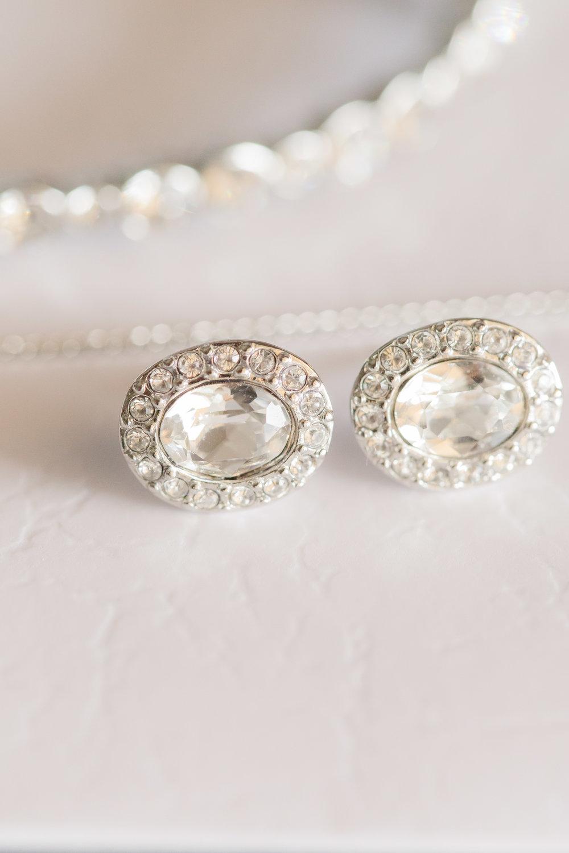 Bridal Earrings - A DeLand, Florida DIY Backyard Wedding