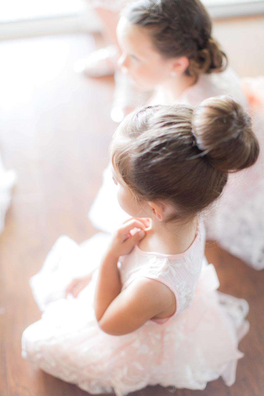 Flower Girl Hairstyles - A DeLand, Florida DIY Backyard Wedding