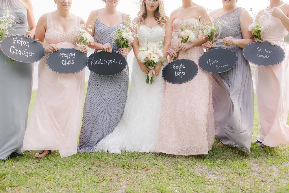 Fun Bridesmaid Photos - A DeLand, Florida DIY Backyard Wedding