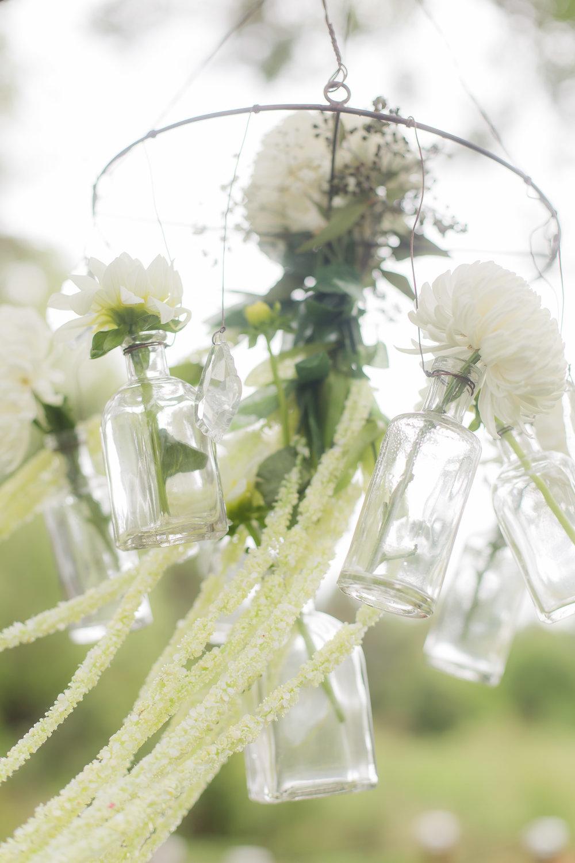 Simple Wedding Ceremony Decor- A DeLand, Florida DIY Backyard Wedding