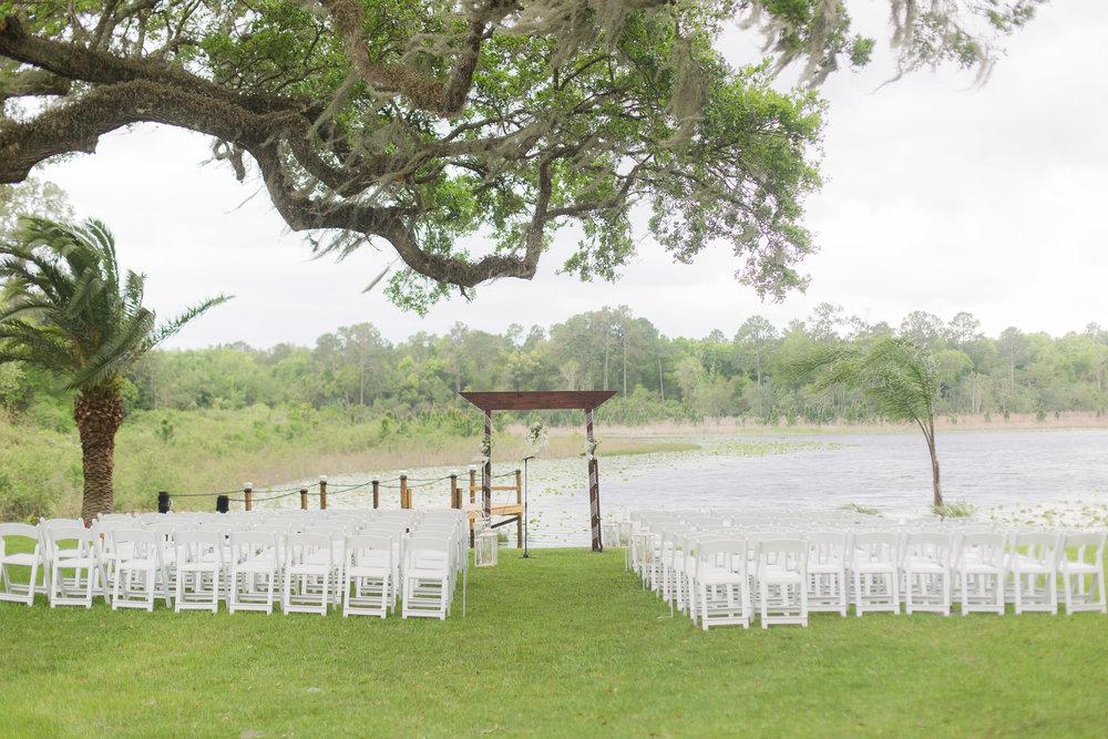 Wedding Ceremony - A DeLand, Florida DIY Backyard Wedding