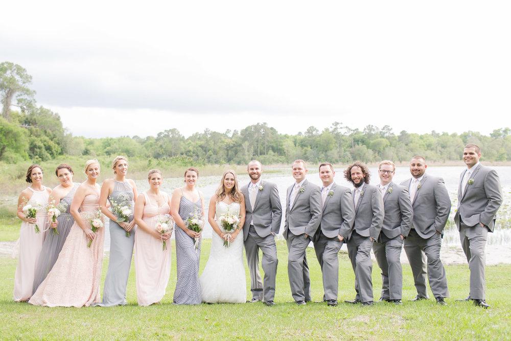Grey and Blush Wedding Party - A DeLand, Florida DIY Backyard Wedding