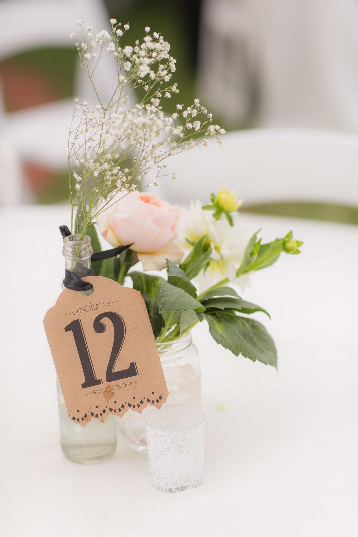 Simple Wedding Reception Decor - A DeLand, Florida DIY Backyard Wedding