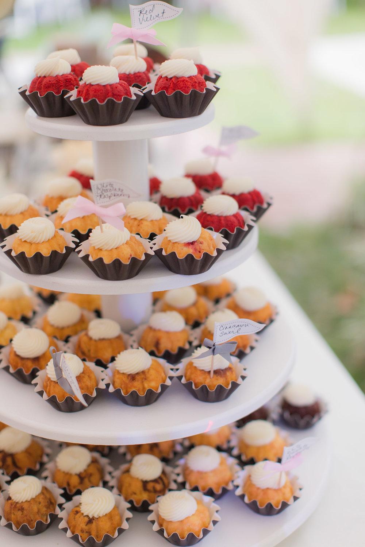 Bundt Cake Wedding Dessert Bar - - A DeLand, Florida DIY Backyard Wedding
