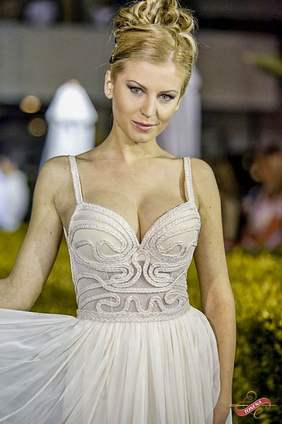 Chiffon Low Back Wedding Dress