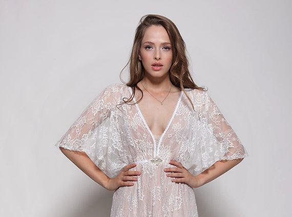 Lace Boho Low Back Wedding Dress