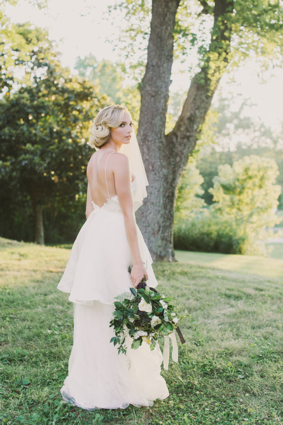Lace and Tulle Low Back Wedding Dress