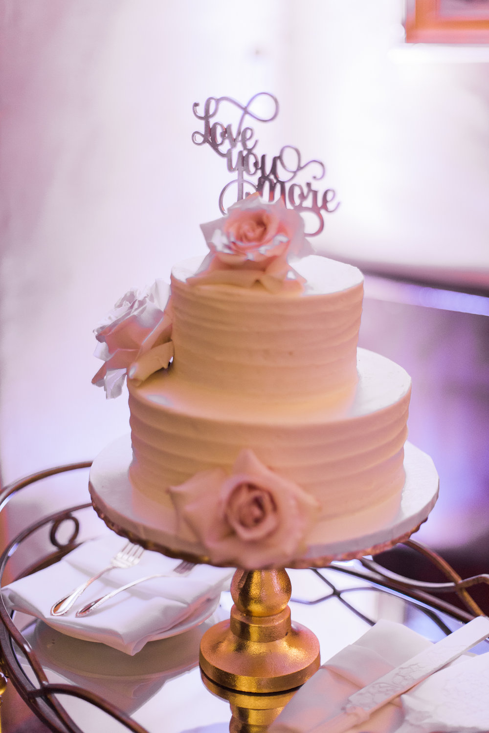 Simple Laser Cut Wedding Cake Toppers - Becca Rillo Photography
