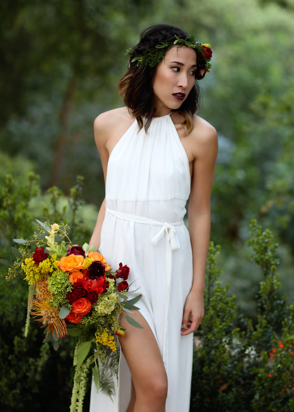 Boho Wedding Dress - A Modern Bohemian Outdoor Wedding Shoot - Bleudog Fotography