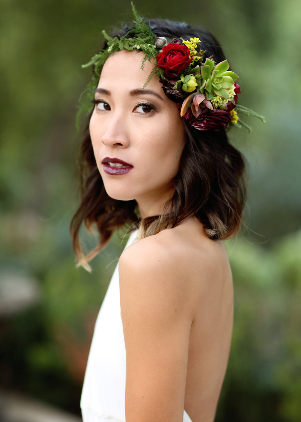 Boho Bride Flower Crown - A Modern Bohemian Outdoor Wedding Shoot - Bleudog Fotography