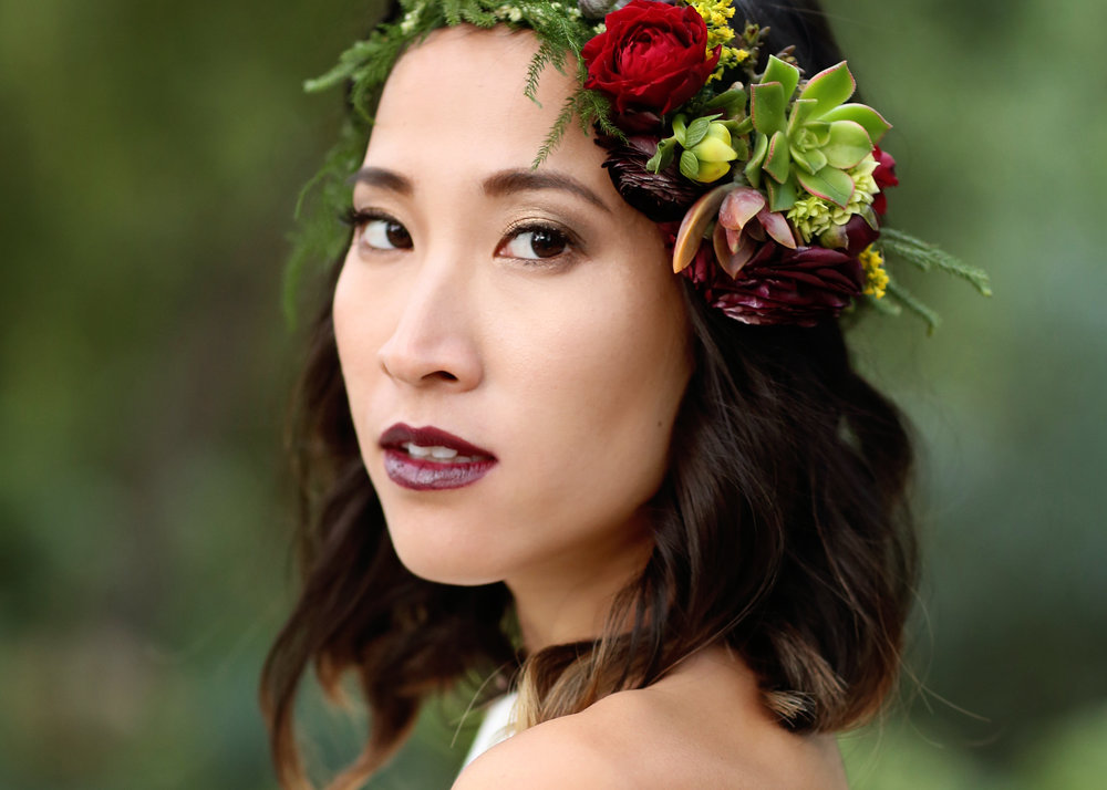 Boho Bride Makeup - A Modern Bohemian Outdoor Wedding Shoot - Bleudog Fotography