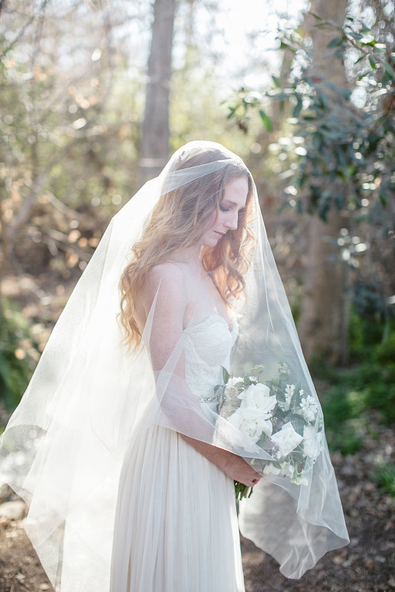 Simple Circle Veil - Cathedral Length Long Bridal Veil