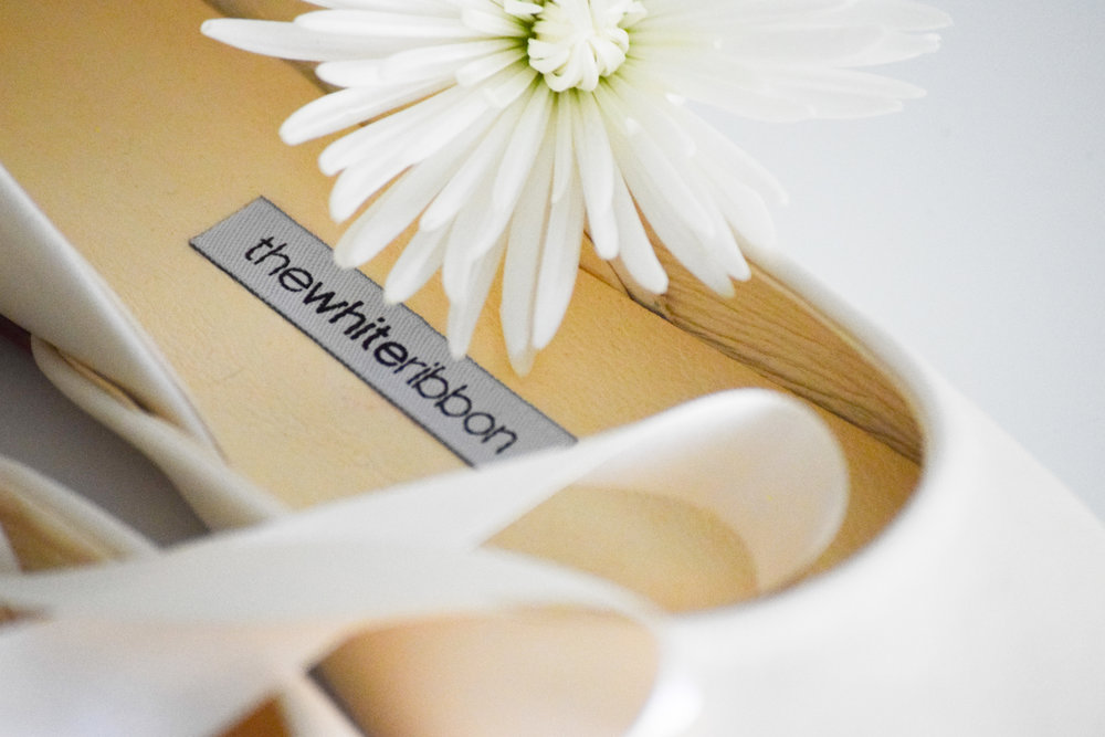 Ivory Bridal Ballet Flats by The White Ribbon
